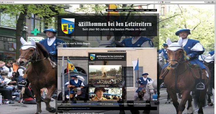 Homepage der Reiter der Zunft zur Letzi. Wordpress 2011