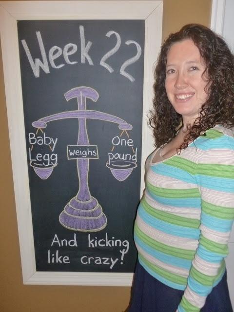 Week 22 Chalkboard Maternity Timeline