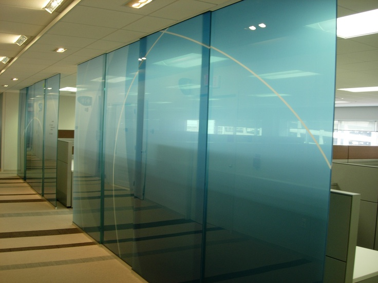 Decorative glass film glass office partitions doors Office partition walls with doors