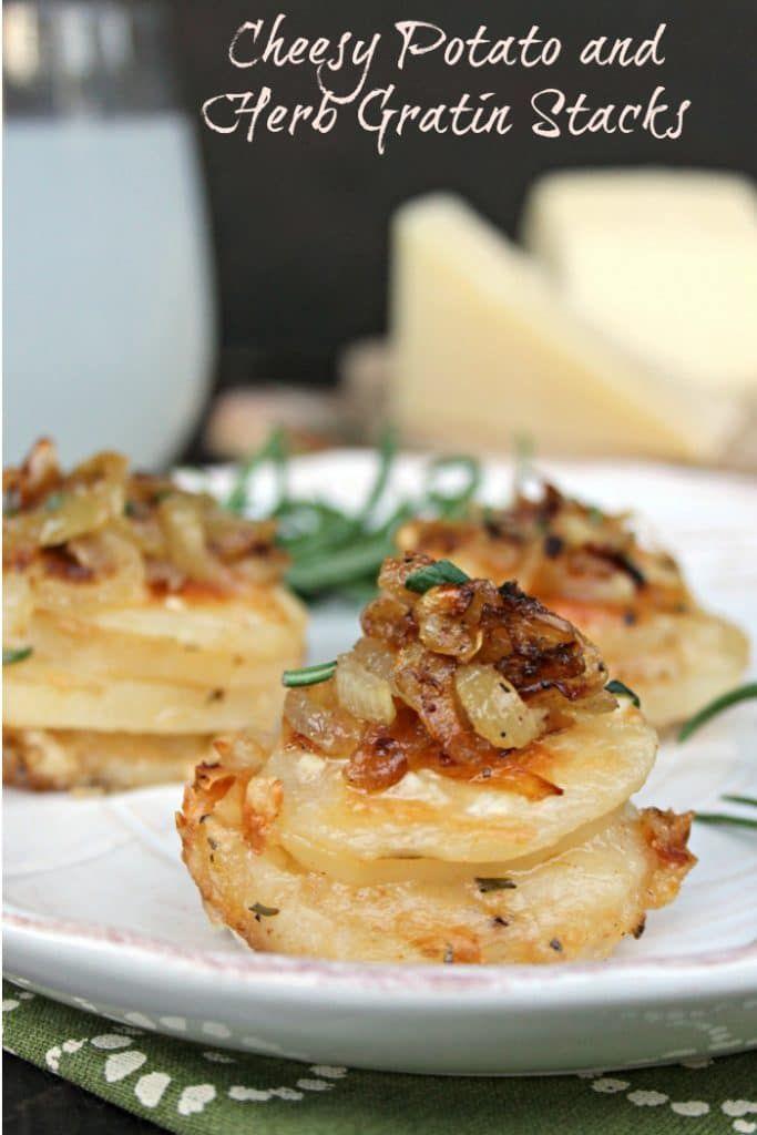 Cheesy Potato And Herb Gratin Stacks
