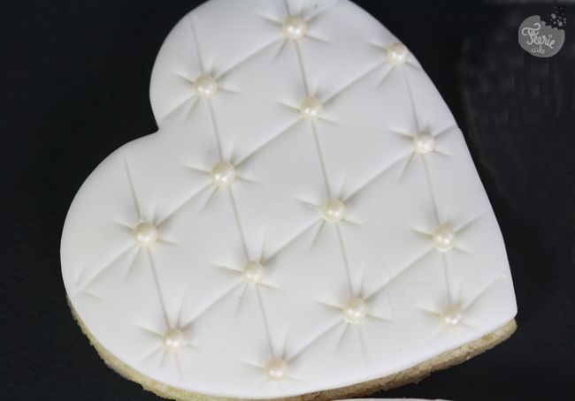 Wedding sugar cookie...Pillow Heart Cookies