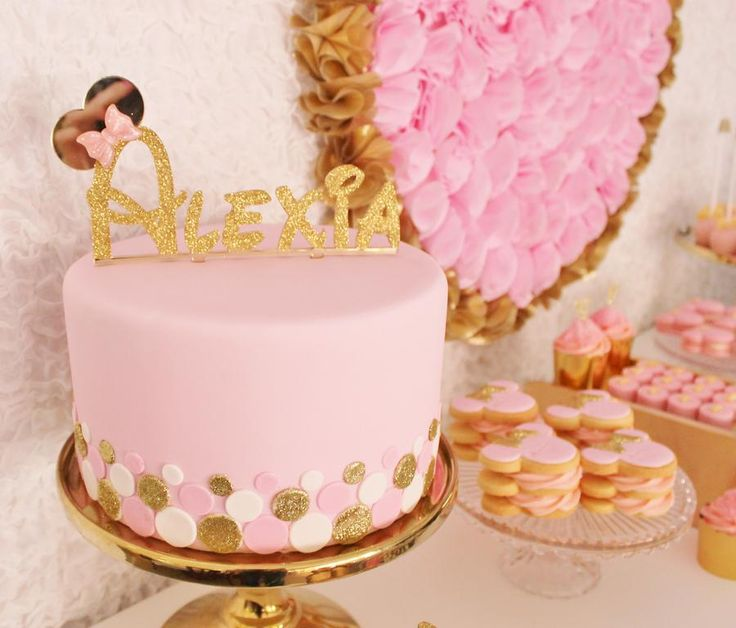 Pink and Gold Minnie Mouse Party