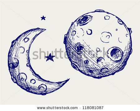 how to draw the moon easy
