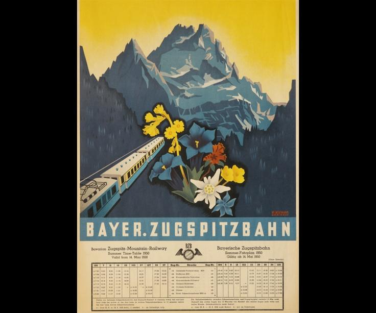Bayrische Zugspitzbahn. The train to Germany's highest mountain