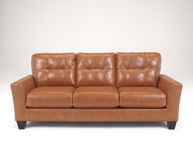 Flash Furniture Benchcraft Paulie Sofa In Orange DuraBlend
