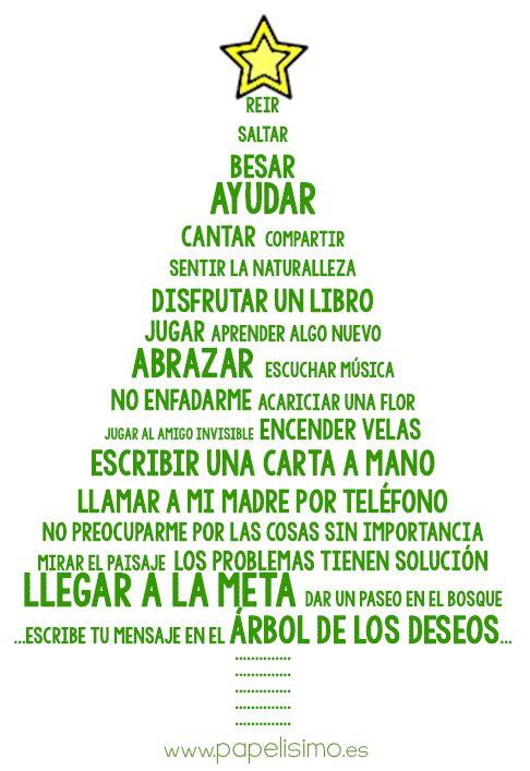 Árbol de los deseos http://papelisimo.es ¡Feliz Navidad!