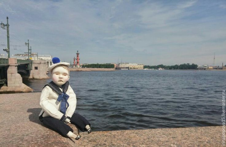 Купить Куколка -болтушка Морячок-Том - комбинированный, кукла ручной работы, кукла, кукла в подарок