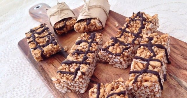 """Healthy LCM bars - introducing """"Bubble Bars"""" with a delicious caramel texture. Free of refined sugars, gluten, nuts & dairy."""