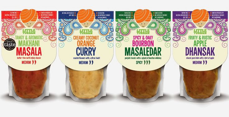 Британское дизайнерское агентство оформило дой-паки с соусами карри