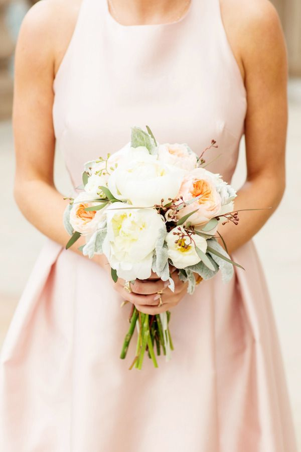 Pale Pink Bridesmaids Dress | photography by http://olivialeighweddings.com/