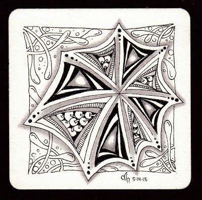 Exploring Art: All Zentangle® Pattern Practice.