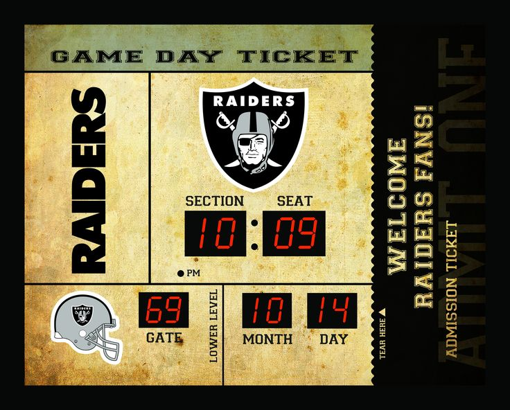 Oakland Raiders Clock - 14x19 Scoreboard - Bluetooth