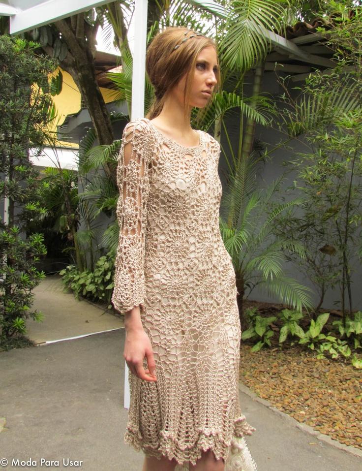 Lovely hem on this crochet lace dress.