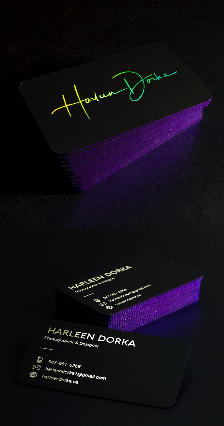 2249 best business cards images on pinterest business cards stunning holographic business cards produced on 30pt black onyx with metallic purple painted edges magicingreecefo Image collections