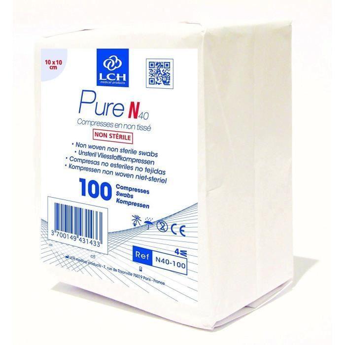 Compresses Non Tissee 40g 10 X 10 Cm Non Sterile Boite De