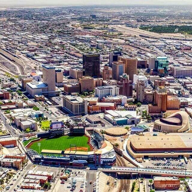 El Paso Texas...our downtown shines with our new baseball stadium, home of The Chihuahuas, the AAA team for the San Diego Padres.  Go Dogs!!!