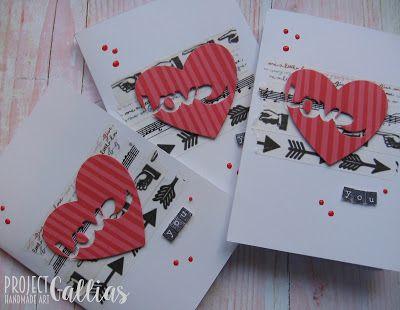 Project Gallias: #projectgallias Valentine's day card, with heart, love, for you; kartka miłosna, walentynki, z sercem, dla ciebie, handmade