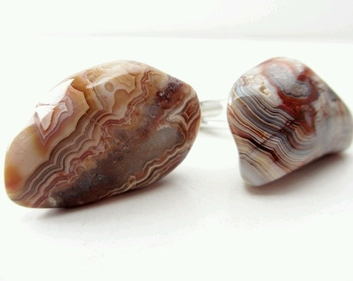 Man | Woman | Unisex Stone Cufflinks Pair of Polished Tumbled Agate