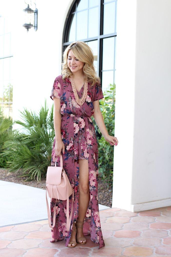 floral maxi romper - romper - casual outfit