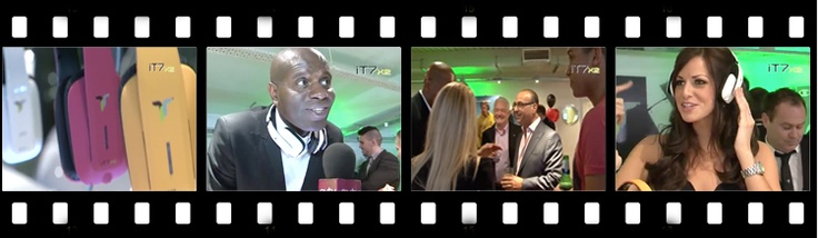 Footage from the glitzy launch night for Bluechipworld and Ian Taylor's latest range of IT7 headphones.
