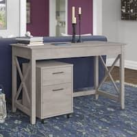 Key West Collection Washed Grey 48W Writing Desk with 2-draw