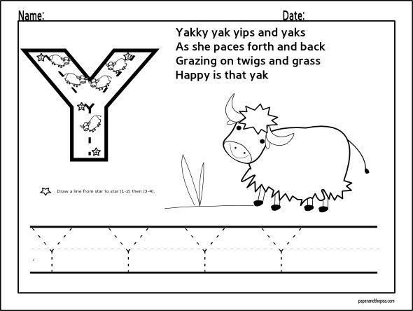42 Letter Y Coloring Pages Free For Preschool Lettres Alphabet Abecedaire Alphabet Maternelle Free printable letter y worksheets