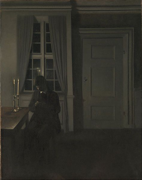 Vilhelm Hammershøi - The Collector of Coins, 1904 Google Art Project (The National Museum of Art, Architecture and Design, Norway)