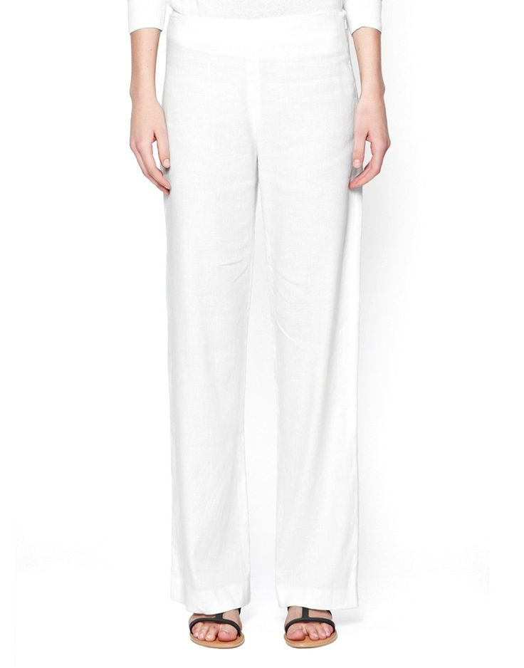 French Connection Laguna Flared Linen Pants