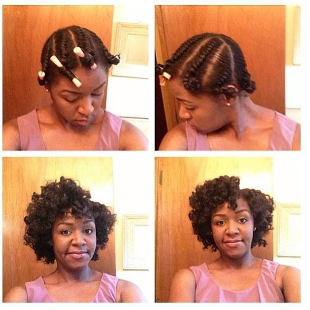 .TOO MUCH WORK! JUST ADD  HAIR GEL OR PUDDING TO WET HAIR TO GET CURLS!..