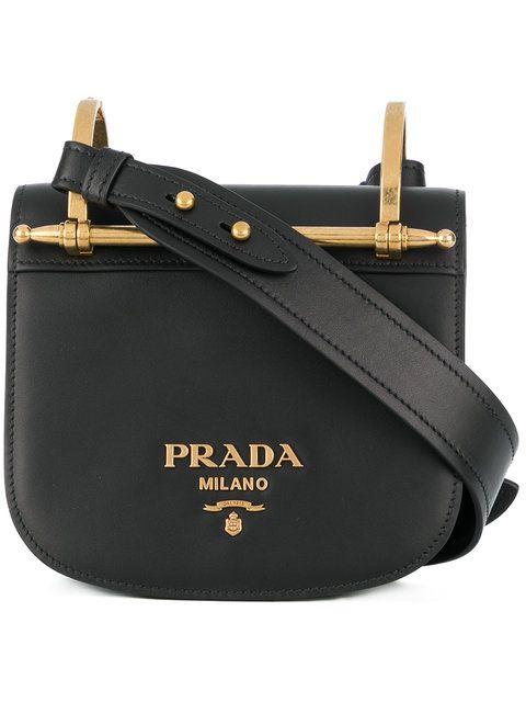 b1293d26891923 Prada Black Pionniere Leather Cross Body Bag | 気になるバッグ ...