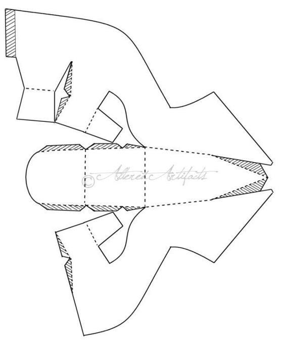 Moldes para hacer zapatillas de papel - Imagui
