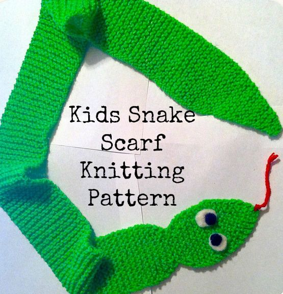 Knitting Pattern 1000 : Super easy knitted snake scarf pattern things to create