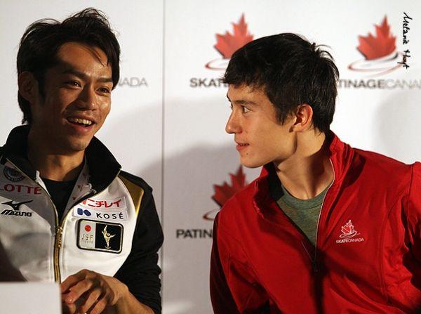 Daisuke Takahashi (JPN) and Patrick Chan (CAN)