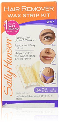Sally Hansen Hair Remover Wax Strip Kit For The Face. For product & price info go to:  https://beautyworld.today/products/sally-hansen-hair-remover-wax-strip-kit-for-the-face/