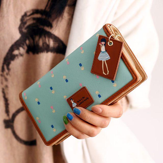 Moda nuovo 2016 donne di marca a lungo portafogli in pelle borsa borse  Donna frizione portamonete colete de pele kip portafoglio in pelle di agnello  Borsa