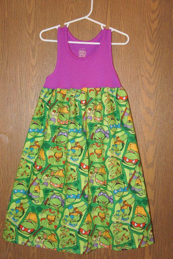 Ninja Turtle Dress TMNT tank dress Teenage by MyPurplePrincessShop, $25.00