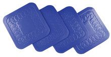 Tenura Anti Slip Silicone Rubber plein Coaster (pak van 4) (VM989B)