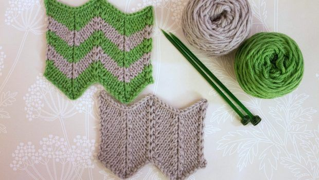 Learn how to knit zigzag stitch with Anna Nikipirowicz in her step by step photo tutorial!