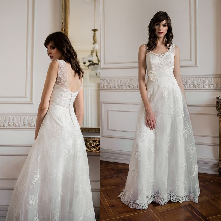 Vestido de novia clásico · Classic tulle wedding dress