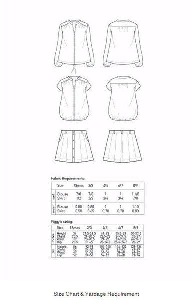 Ayashe blouse et Ayashe Skirt de Figgy's