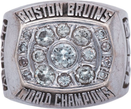 The 1971-72 Championship ring presented to Herb Ralby after the Bruins' exciting playoff run.