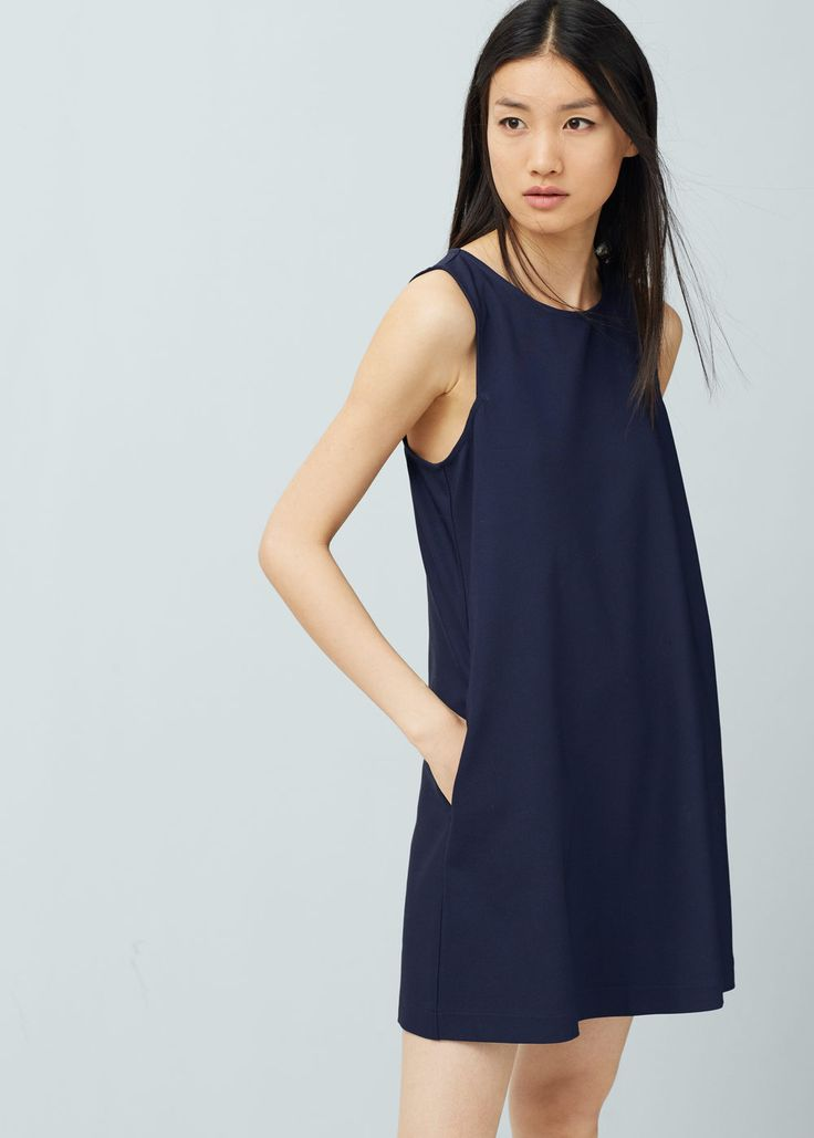 Shift cotton dress - Dresses for Women | MANGO USA