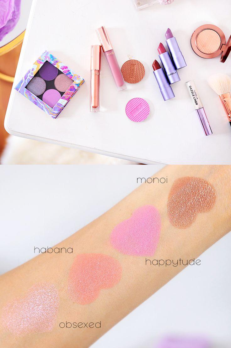 Alina Rose Makeup Blog: KOSMETYKI NABLA FREEDOMINATION - swatche, cienie, broznery, róże, szminki.