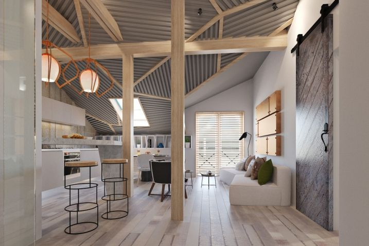 Idées pour décorer un appartement de 50 mètres carrés avec des styles différents. Style loft scandinave, style minimaliste, design, vintage.