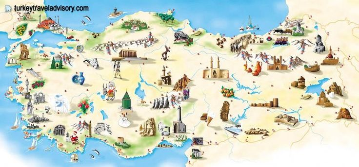nice Map of Turkey Tourist