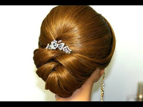 DIY Wedding Ideas: Bridal updo. Wedding hairstyles for medium long hair.