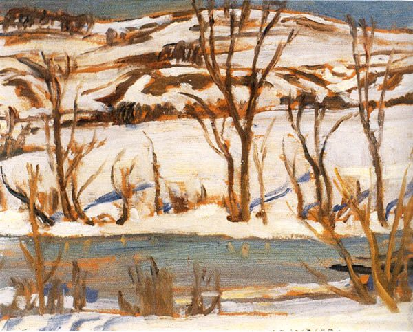 'Winter at Ripon, Quebec', 1926, by Alexander Young Jackson at Mayberry Fine Art