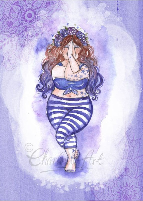 Indigo Purple Yoga Third Eye Brow Chakra by CharlotteThomsonArt