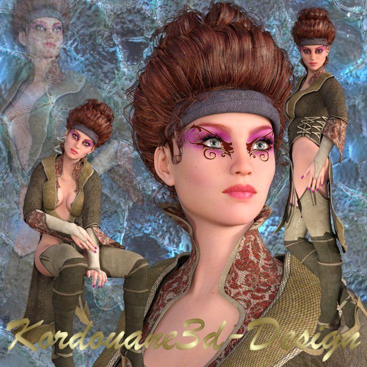 Béatrice : 3 tubes de femme Steampunk fantasy