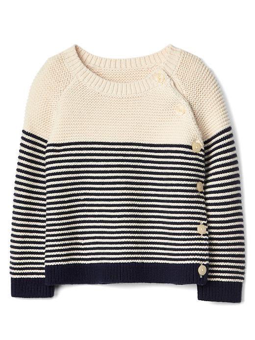 Baby Gap - Stripe garter button sweater